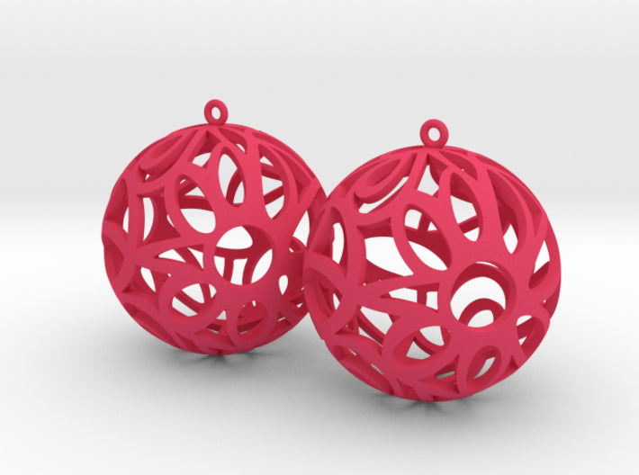Floral Cube Earrings 3d printed