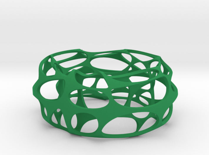 Voronoi Oval Bangle 3d printed