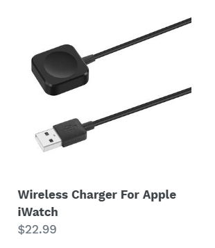 Wireless Charger For Apple iWatch