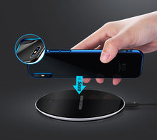 Load image into Gallery viewer, Glass Wireless Charging Pad (For Samsung, iPhone, And Android)
