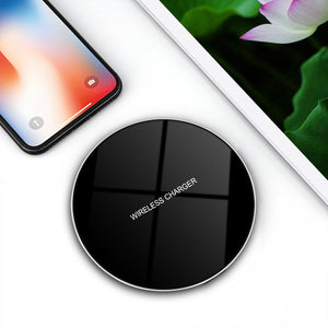 Glass Wireless Charging Pad (For Samsung, iPhone, And Android)