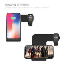 Load image into Gallery viewer, 2 in 1 Wireless Charger With Fast Charge (For Apple Watch, Samsung, iPhone, and Android)