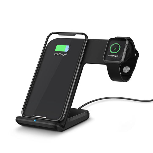 2 in 1 Wireless Charger With Fast Charge (For Apple Watch, Samsung, iPhone, and Android)