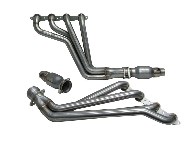 BBK 10-15 Camaro LS3 L99 Long Tube Exhaust Headers With Converters - 1-3/4 304 Stainless