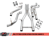 AWE Tuning 16-18 Chevy Camaro SS Resonated Cat-Back Exhaust - Track Edition (Chrome Silver Tips)