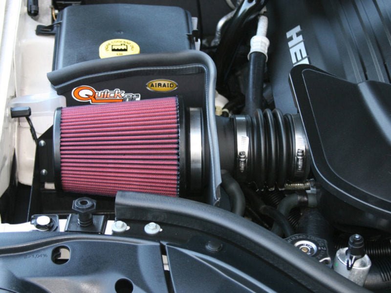 Airaid 05-10 Jeep Grand Cherokee 5.7L / 06-10 SRT8 CAD Intake System w/o Tube (Oiled / Red Media)