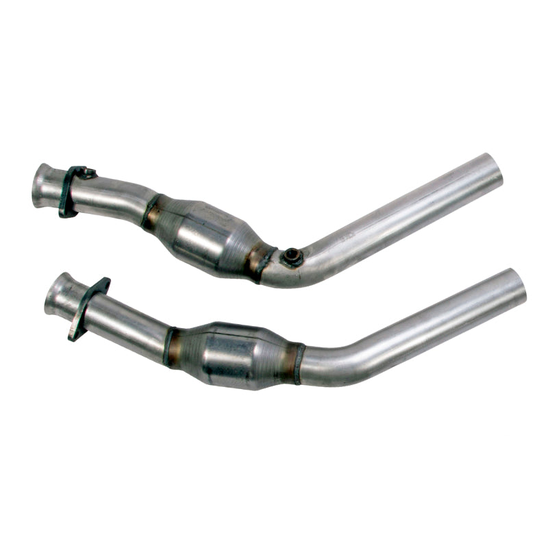 BBK 11-14 Mustang 3.7 V6 High Flow X Pipe With Catalytic Converters - 2-1/2