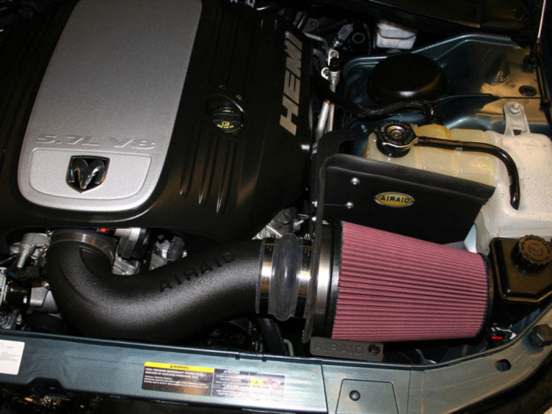 Airaid 06-10 Charger / 05-08 Magnum 5.7/6.1L Hemi CAD Intake System w/ Tube (Oiled / Red Media)
