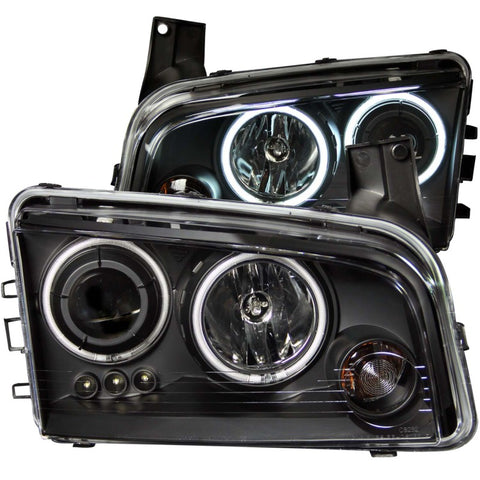 Anzo USA Phares avant Projector-Halo Chrome Dodge Charger 2006-2010 - ATACK