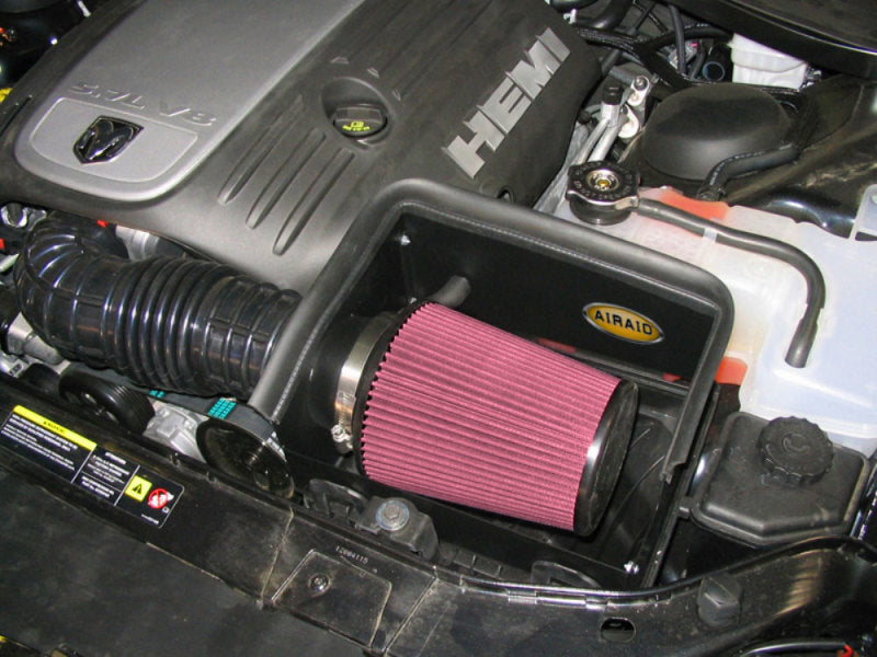 Airaid 05-08 Dodge Magnum/Chrysler 300C 5.7L Hemi CAD Intake System w/o Tube (Oiled / Red Media)