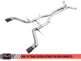 AWE Tuning 16-19 Chevy Camaro SS Resonated Cat-Back Exhaust - Track Edition (Diamond Black Tips)