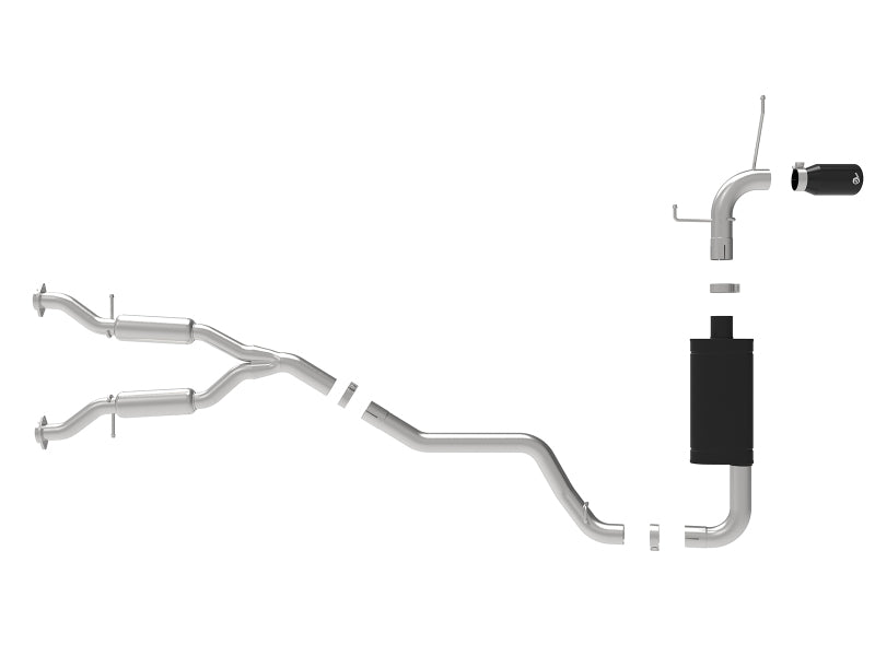 aFe Large Bore HD 3in 304 SS Cat-Back Exhaust w/ Black Tips 14-19 Jeep Grand Cherokee (WK2) V6-3.6L
