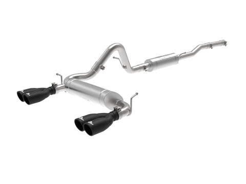 aFe Vulcan Series 2.5in 304SS Cat-Back Exhaust 07-18 Jeep Wrangler (JK) V6-3.6/3.8L w/ Black Tips
