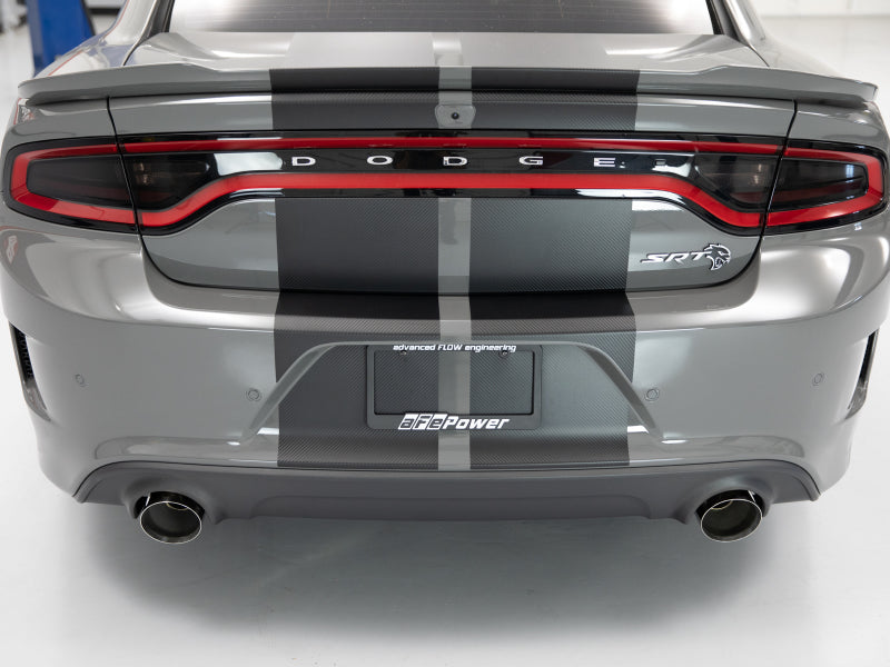 aFe MACH Force-XP 4-1/2in Polished OE Replacement Exhaust Tips - 15-19 Dodge Charger/Hellcat