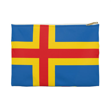 Åland Flag Accessory Pouch Large / White - Scandinavian Design Studio