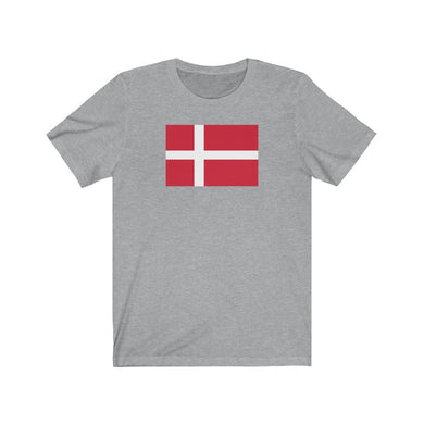 Danish Flag Unisex T-Shirt Athletic Heather / L - Scandinavian Design Studio