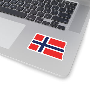 North Dakota Norwegian Flag Sticker - Scandinavian Design Studio