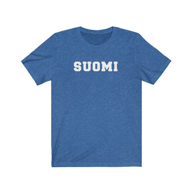 Suomi Unisex T-Shirt Heather True Royal / L - Scandinavian Design Studio