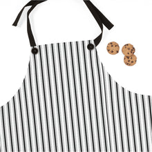 Load image into Gallery viewer, Black Ticking Stripe Apron One Size - Scandinavian Design Studio