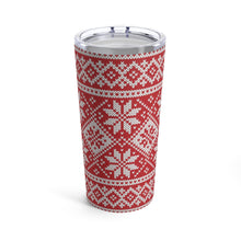 Load image into Gallery viewer, Red Norwegian Ski Sweater Print 20 oz Insulated Tumbler