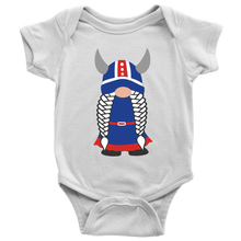 Load image into Gallery viewer, Icelandic Viking Girl Gnome Baby Bodysuit