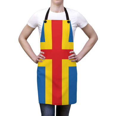 Åland Flag Apron One Size - Scandinavian Design Studio