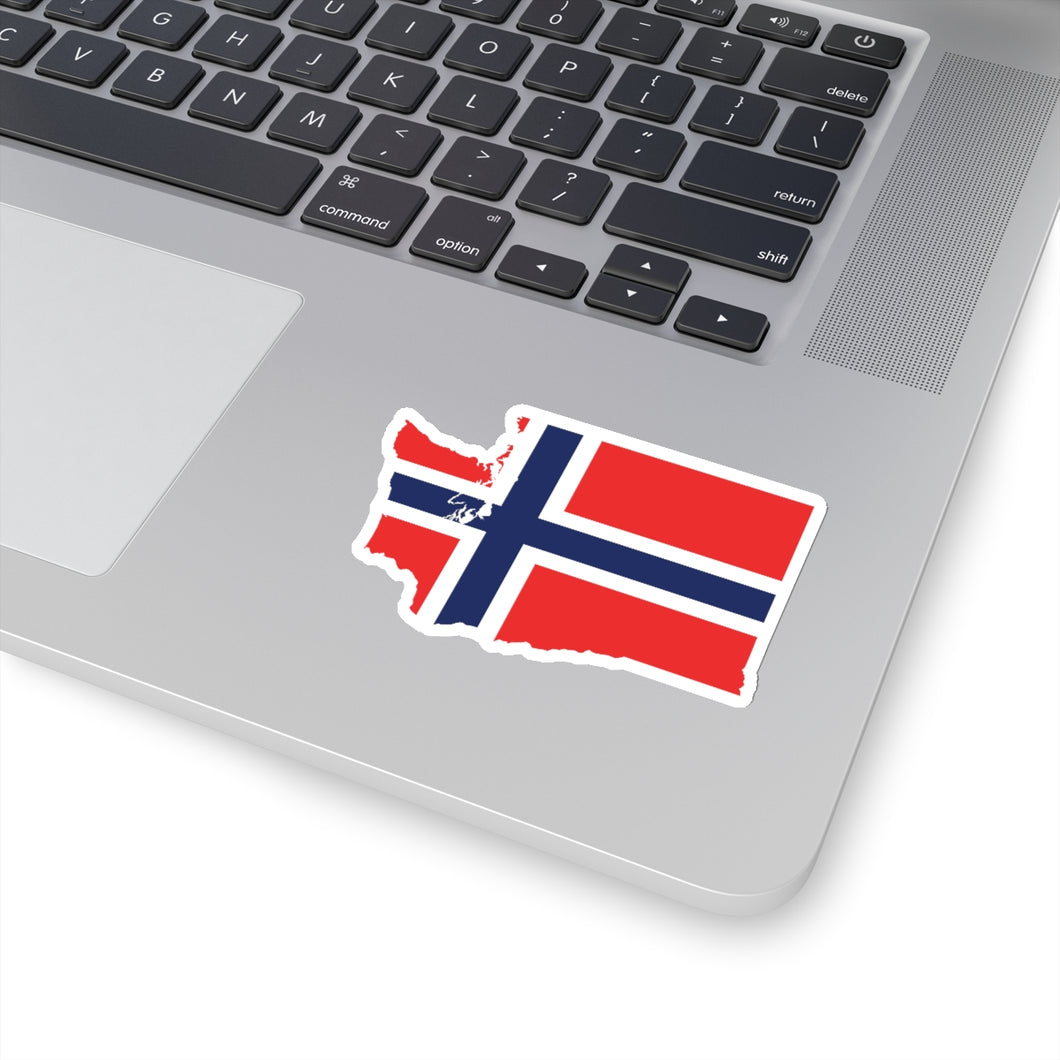Washington Norwegian Flag Sticker - Scandinavian Design Studio