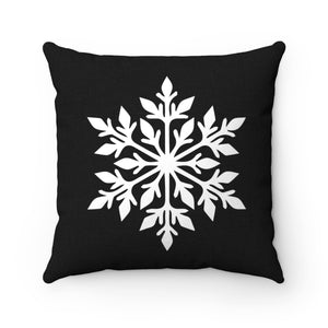 Black Snowflake Pillow Cover