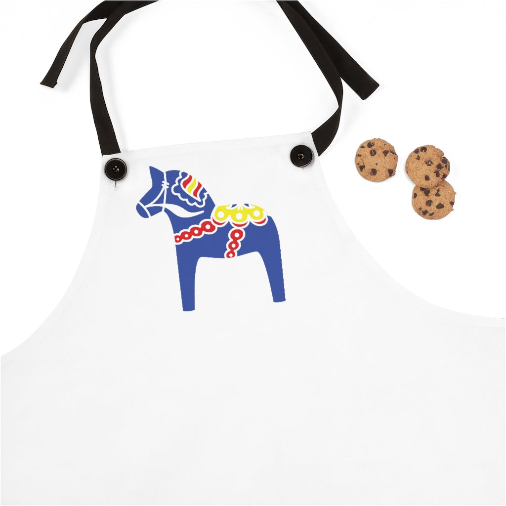 Traditional Dala Horse Apron One Size - Scandinavian Design Studio