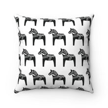 "Load image into Gallery viewer, Dala Horse Print Pillow Cover 14"" x 14"" - Scandinavian Design Studio"
