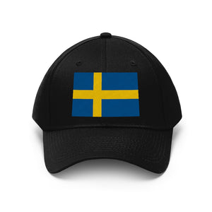 Swedish Flag Embroidered Hat