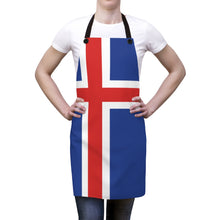 Load image into Gallery viewer, Icelandic Flag Apron One Size - Scandinavian Design Studio