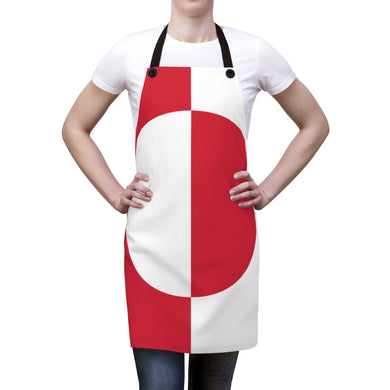 Greenlandic Flag Apron One Size - Scandinavian Design Studio