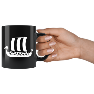 Viking Ship Coffee Mug - Scandinavian Design Studio