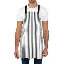 Load image into Gallery viewer, Black Ticking Stripe Apron