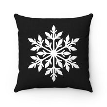 Load image into Gallery viewer, Black Snowflake Pillow Cover