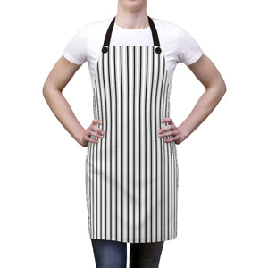 Black Ticking Stripe Apron