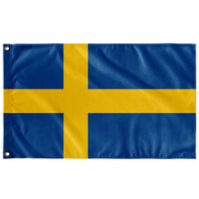 "Load image into Gallery viewer, Swedish Flag Wall Flag - 36""x60"" - Scandinavian Design Studio"