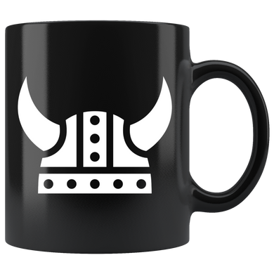 Viking Helmet Coffee Mug Black - Scandinavian Design Studio