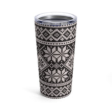 Load image into Gallery viewer, Black Norwegian Ski Sweater Print 20 oz Insulated Tumbler
