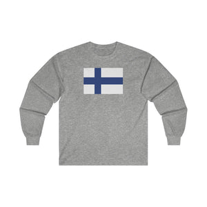 Finnish Flag Long Sleeve Tee