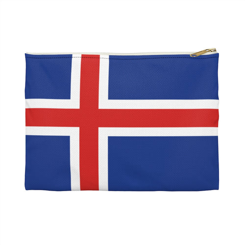 Icelandic Flag Accessory Pouch