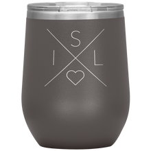 Load image into Gallery viewer, Iceland Love Wine Tumbler Pewter - Scandinavian Design Studio