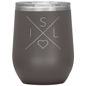 Iceland Love Wine Tumbler Pewter - Scandinavian Design Studio