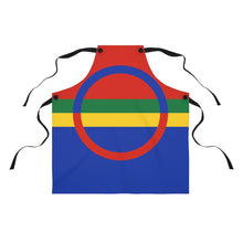 Load image into Gallery viewer, Sami Flag Apron - Scandinavian Design Studio