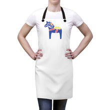 Load image into Gallery viewer, Traditional Dala Horse Apron - Scandinavian Design Studio
