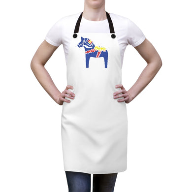 Traditional Dala Horse Apron - Scandinavian Design Studio