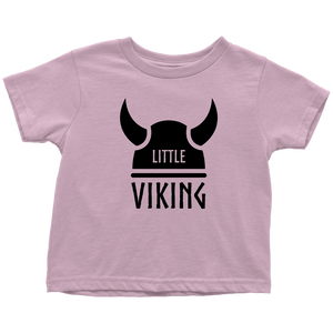 Little Viking Toddler Tee Toddler T-Shirt / Pink / 2T - Scandinavian Design Studio