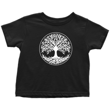 Load image into Gallery viewer, Tree Of Life Toddler Tee Toddler T-Shirt / Black / 2T - Scandinavian Design Studio