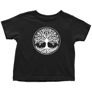 Tree Of Life Toddler Tee Toddler T-Shirt / Black / 2T - Scandinavian Design Studio